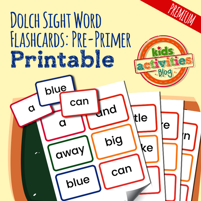 Dolch Sight Word Flashcards - Pre-Primer - The Printables Library - dolch sight word flashcards