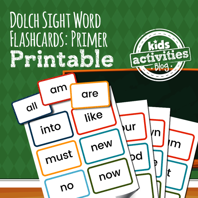 Dolch Sight Word Flashcards Primer - The Printables Library - dolch sight word flashcards