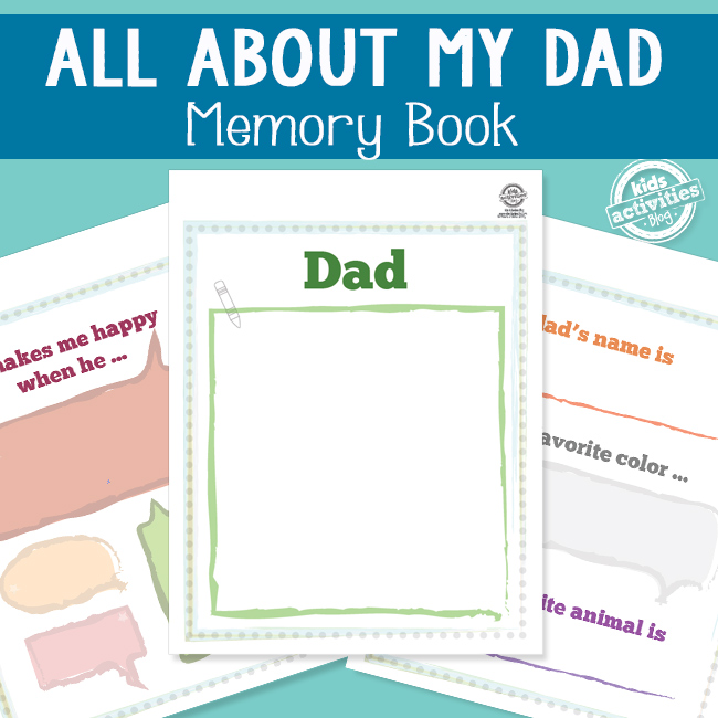 All About Dad Memory Book - The Printables Library