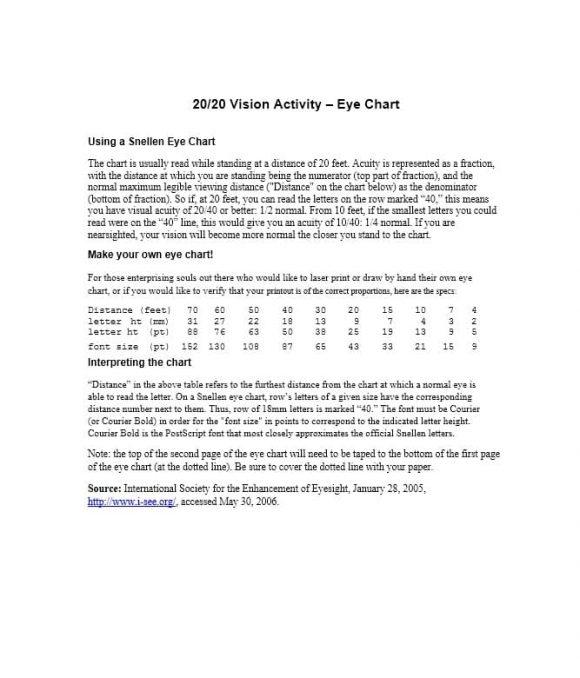Eye Chart Art Template - Eye chart template eye chart - eye chart template