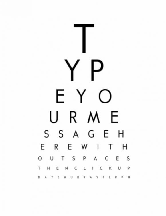 50 Printable Eye Test Charts - Printable Templates