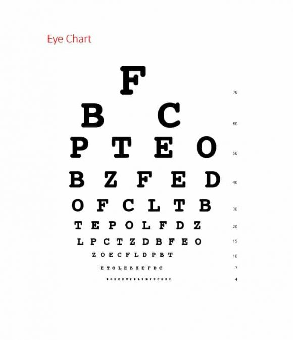 50 Printable Eye Test Charts - Printable Templates - eye chart template