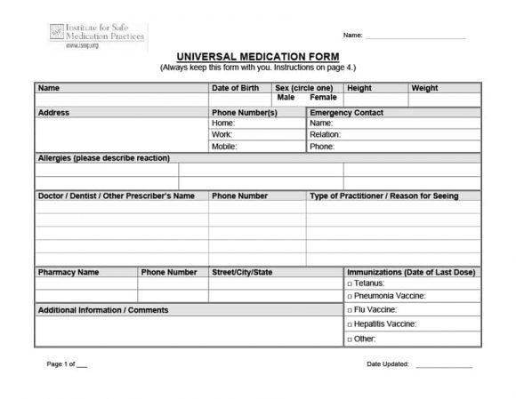 32 Real  Fake Prescription Templates - Printable Templates
