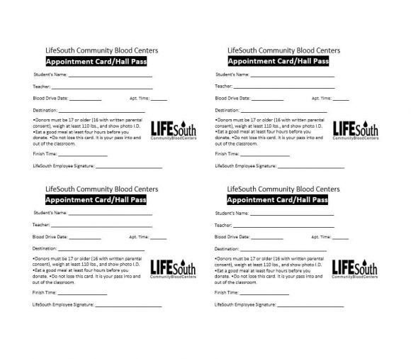 Free Appointment Reminder Cards Template  8 Best Images of - appointment cards free templates