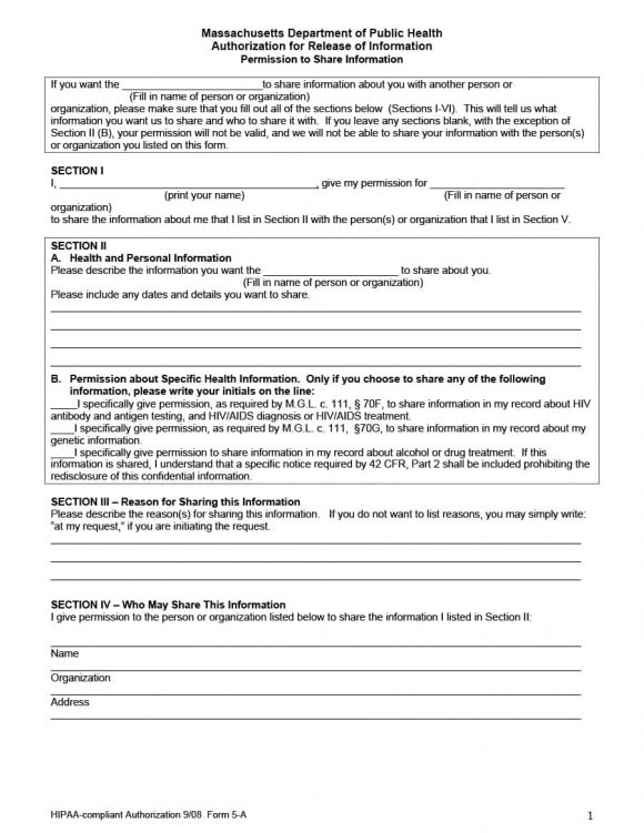 40+ Medical Records Release Form (Release of Information) - hipaa compliant release form