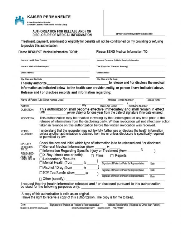 40+ Medical Records Release Form (Release of Information) - Medical Information Release Form