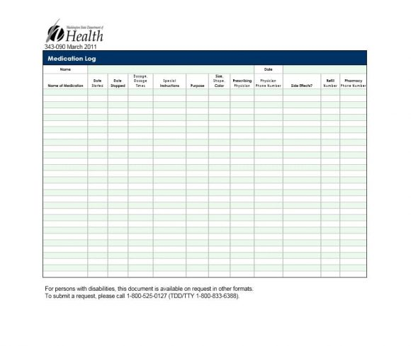 58 Medication List Templates for any Patient Word, Excel, PDF - how to create call log template