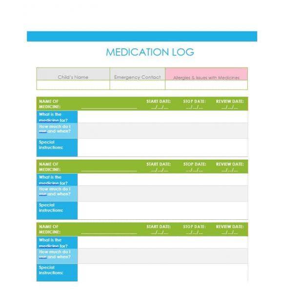 Medicine List Template Gallery - Template Design Ideas