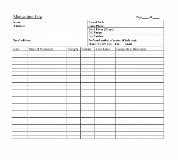 Medication List Template Image collections - Template Design Ideas