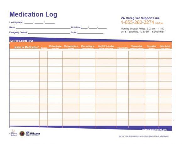 medication list template - 28 images - monthly medication log