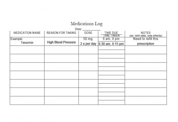 58 Medication List Templates for any Patient Word, Excel, PDF
