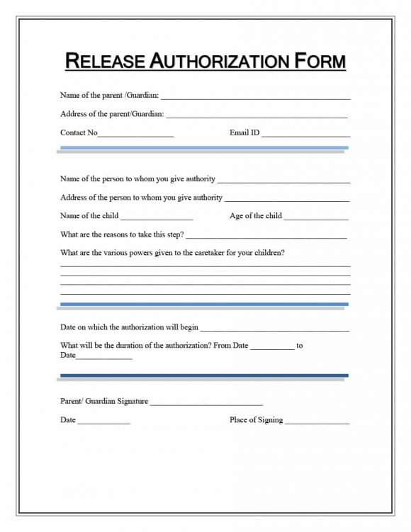 40+ Medical Records Release Form (Release of Information) - medical release form sample