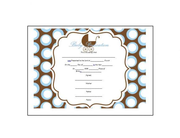 baby dedication certificate free - Pinarkubkireklamowe