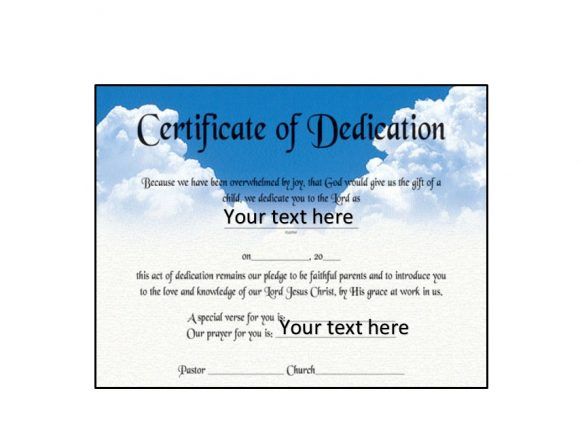 √ 50 Free Baby Dedication Certificate Templates