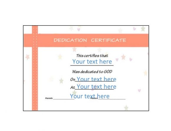 50 Free Baby Dedication Certificate Templates - Printable Templates