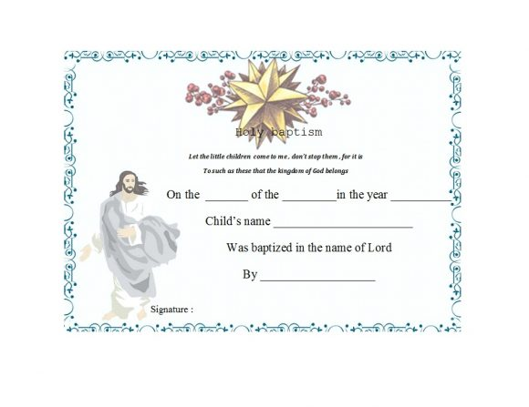 47 Baptism Certificate Templates (FREE) - Printable Templates