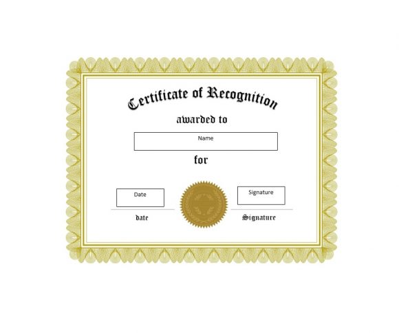 50 Free Certificate of Recognition Templates - Printable Templates - certificate of recognition template