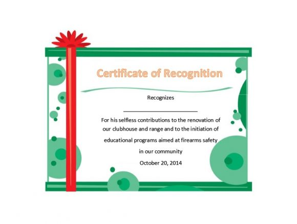 50 Free Certificate of Recognition Templates - Printable Templates