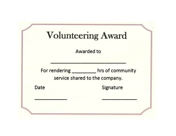 50 Free Volunteering Certificates - Printable Templates