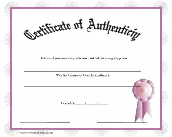 37 Certificate of Authenticity Templates (Art, Car, Autograph, Photo) - free printable certificate of authenticity templates