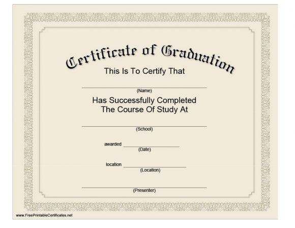 40+ Graduation Certificate Templates  Diplomas - Printable Templates - Certification Document Template