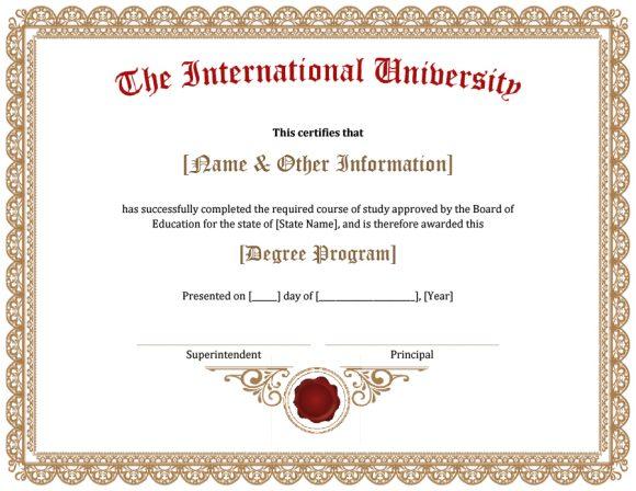 40+ Graduation Certificate Templates  Diplomas - Printable Templates
