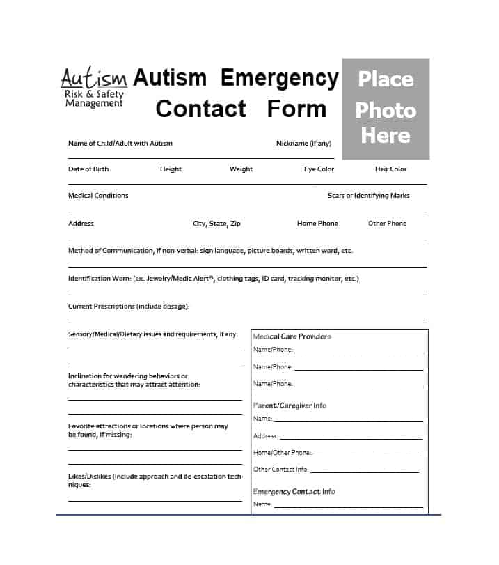 54 Free Emergency Contact Forms Employee / Student