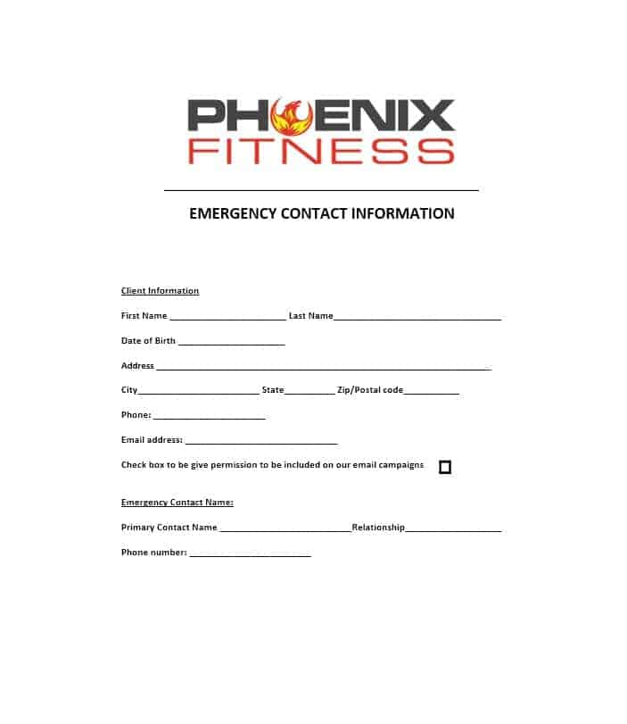 emergency contact info form - Alannoscrapleftbehind