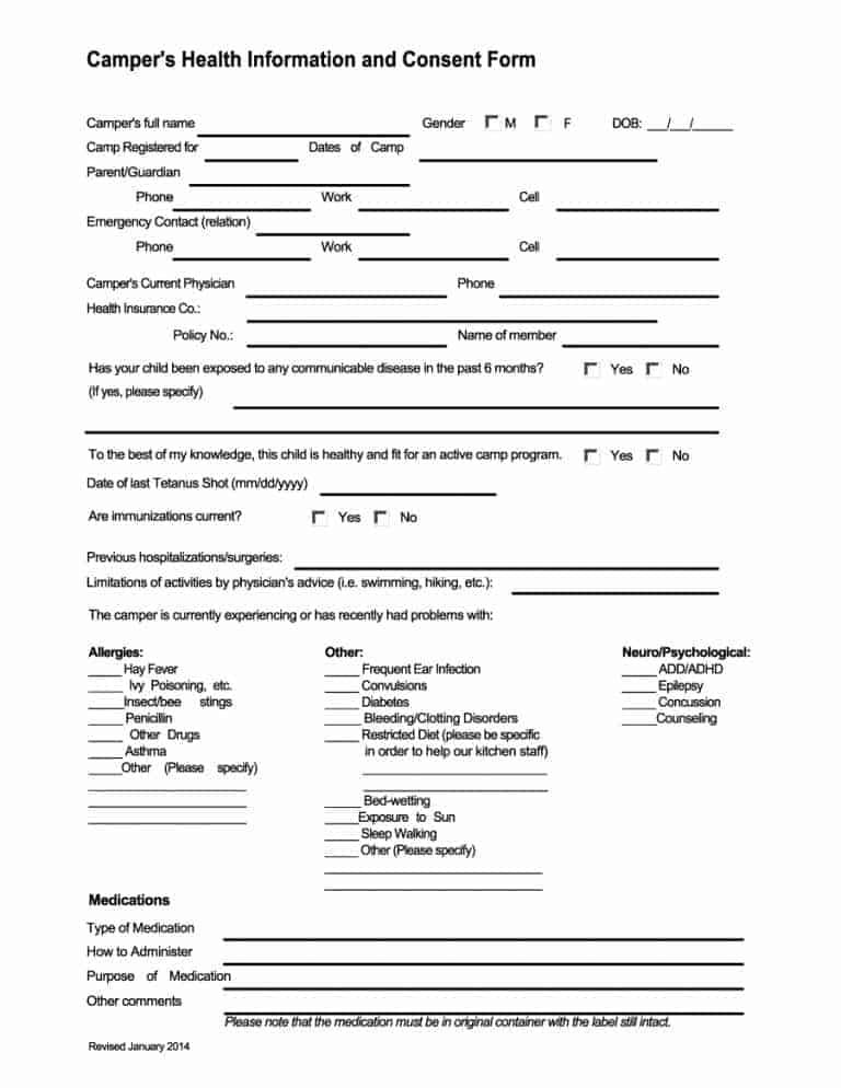 medical consent form templates - Josemulinohouse