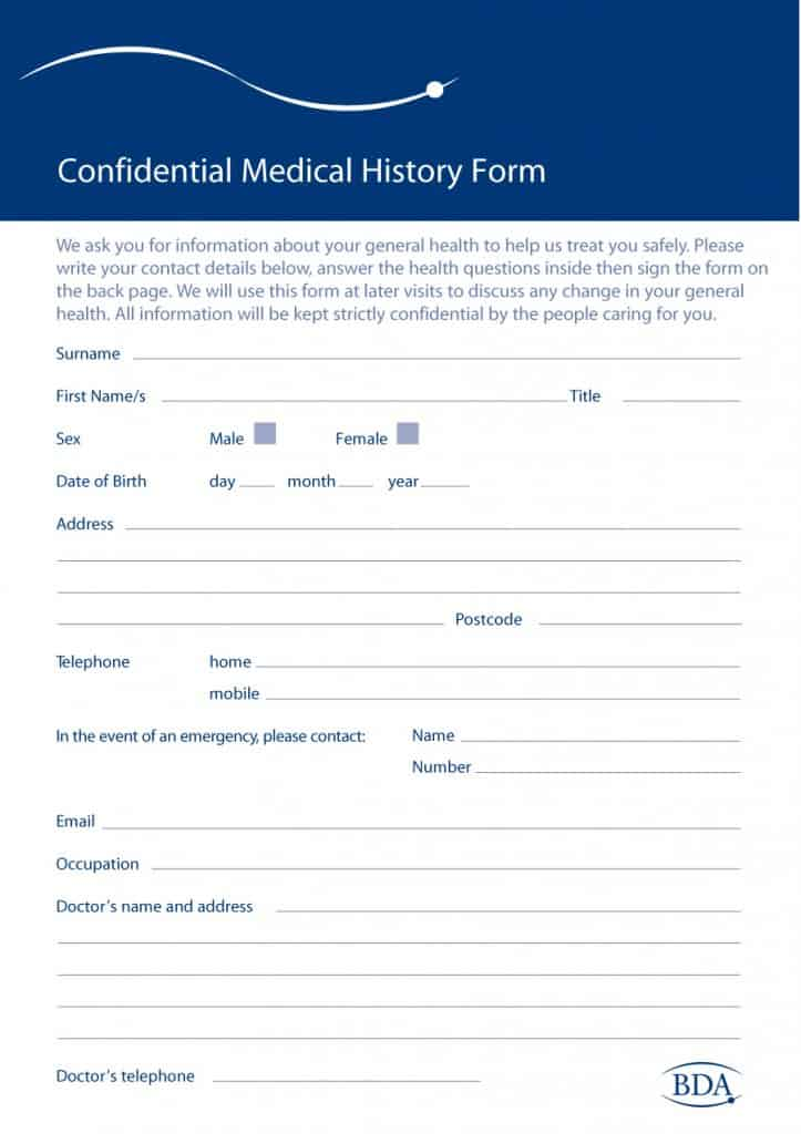 67 Medical History Forms Word, PDF - Printable Templates