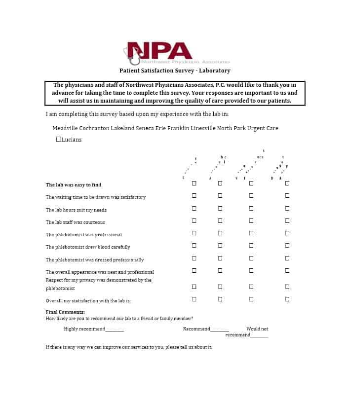 54 Effective Patient Satisfaction Survey Templates + Questions