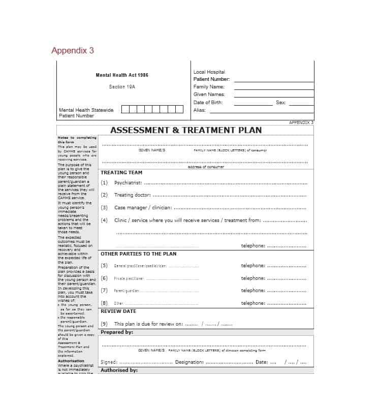 35 Treatment Plan Templates (Mental, Dental, Chiropractic + MORE)