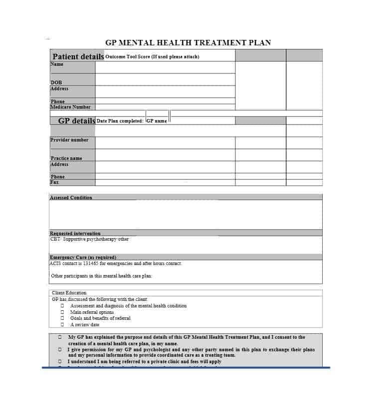 35 Treatment Plan Templates (Mental, Dental, Chiropractic + MORE) - treatment plan templates
