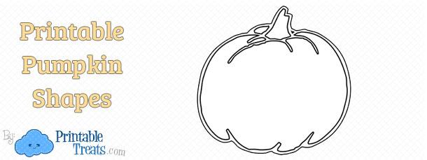 Printable Pumpkin Shape Template \u2014 Printable Treats