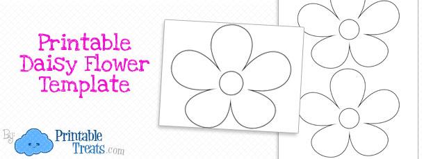 Printable Daisy Flower Template \u2014 Printable Treats - flower template