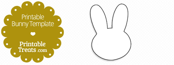 Printable Bunny Template \u2014 Printable Treats