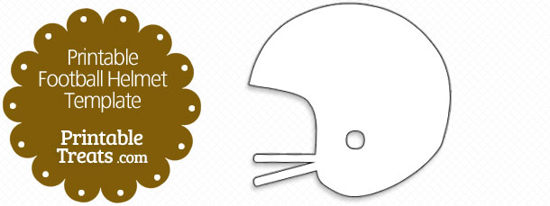 Printable Football Helmet Template \u2014 Printable Treats