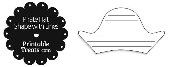 Printable Pirate Hat Shape with Lines \u2014 Printable Treats