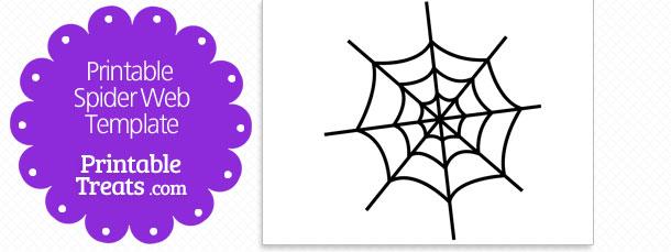 spider web printable template