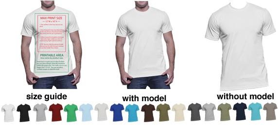T-Shirt Mockup Templates to Help Display T-Shirt Designs Print - t shirt template