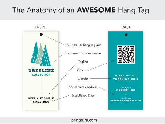 Anatomy of an AWESOME clothing hang tag (+ templates!) Printaura Blog