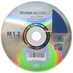 Диск с драйверами Canon Pixma MG-5140