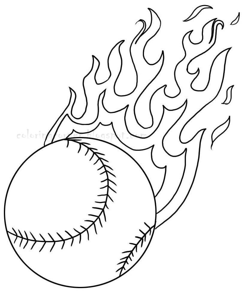 Kids coloring pages baseball printable coloring pages