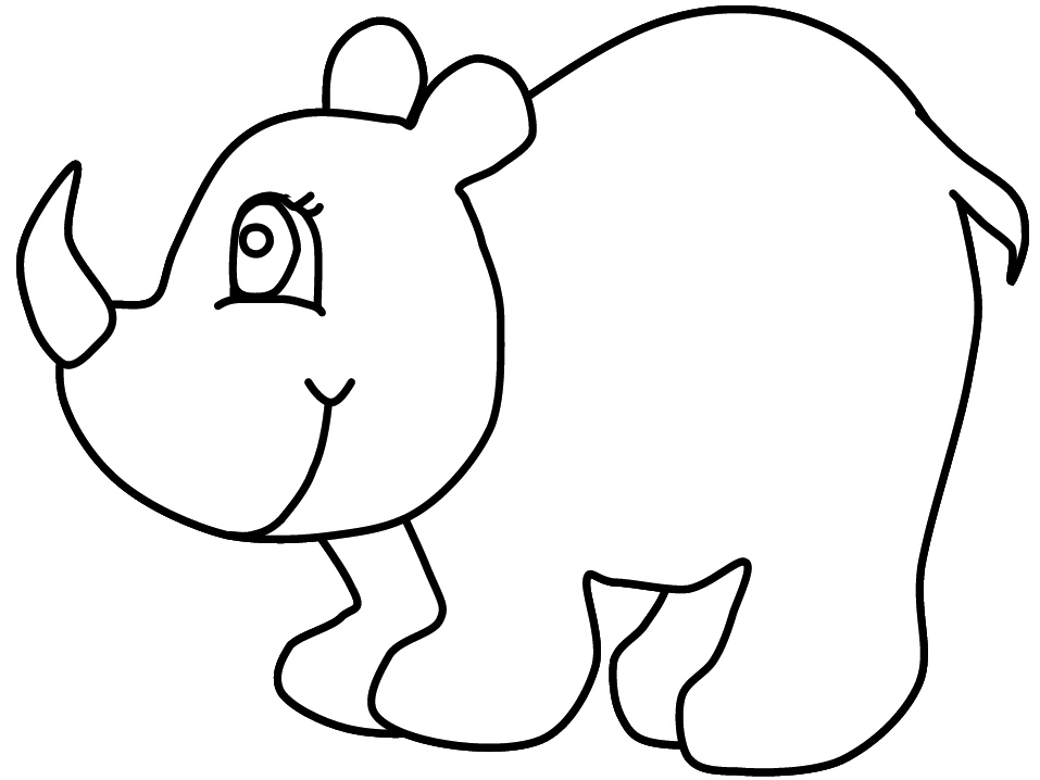 Rhinoceros Coloring Page - Costumepartyrun