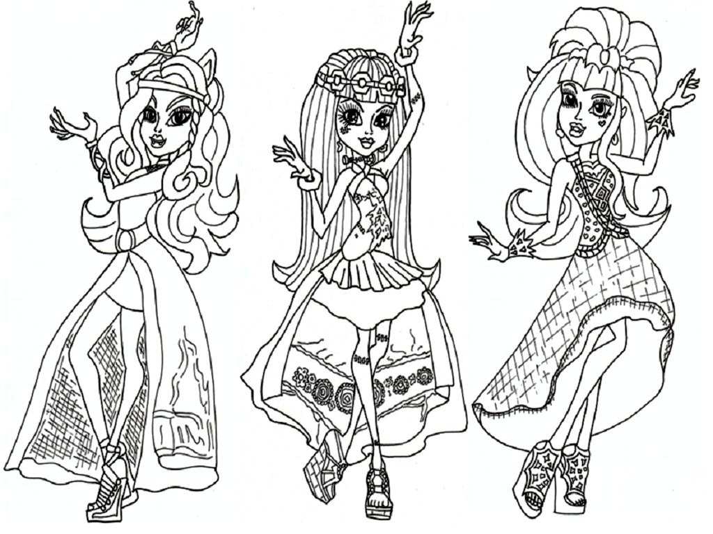Monster High Ausmalbilder Cleo De Nile : Monster High Coloring Pages Pdf Democraciaejustica