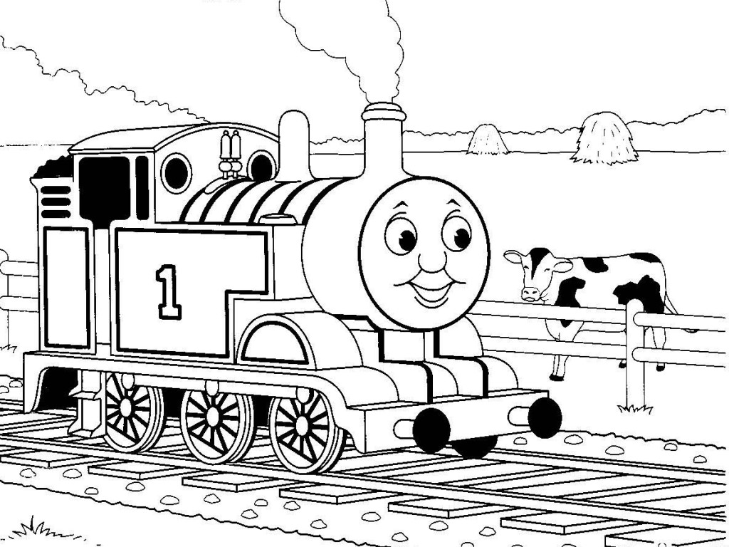 Train coloring pages - Thomas The Train Coloring Pages 11 Jpg