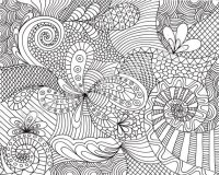 16 intricate coloring pages for kids - Print Color Craft