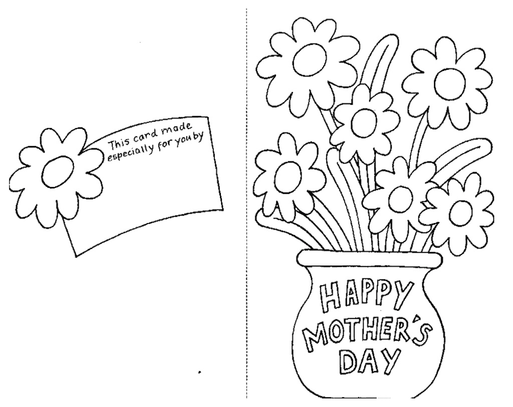 Mothers day coloring pages printable coloring pages