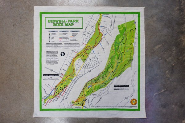 Bidwell park bike map