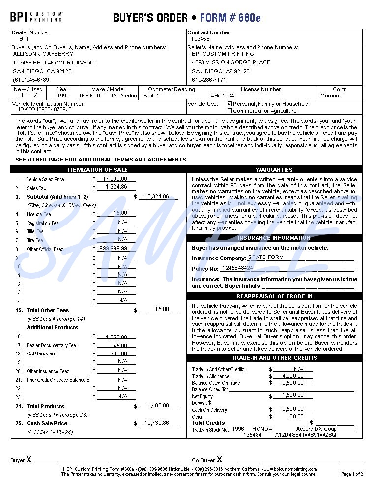 Printerformsbiz Sample E-Forms